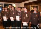 Gerhard Rieger, Rudolf Eder, Robert Rieger und Christoph Krallinger: Verdienstmedaille LFV